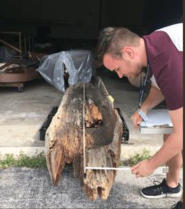 Dugout canoe measurement
