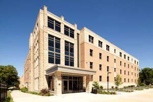 Exterior shot of Leopold Residence Hall
