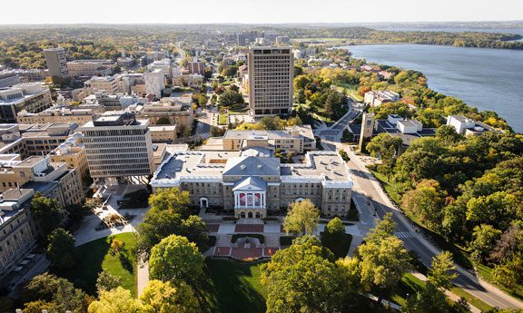Aerial view of UW campus
