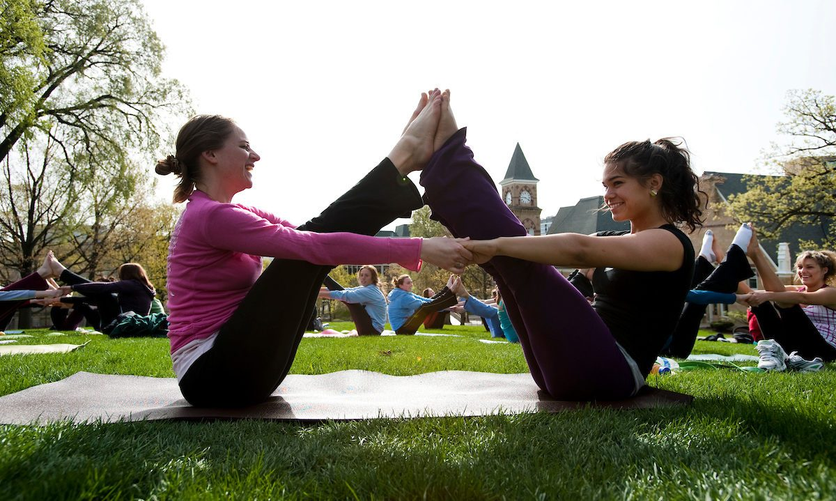 Yoga on Bascom Hill