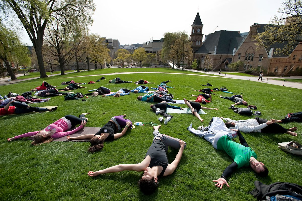 Yoga on campus