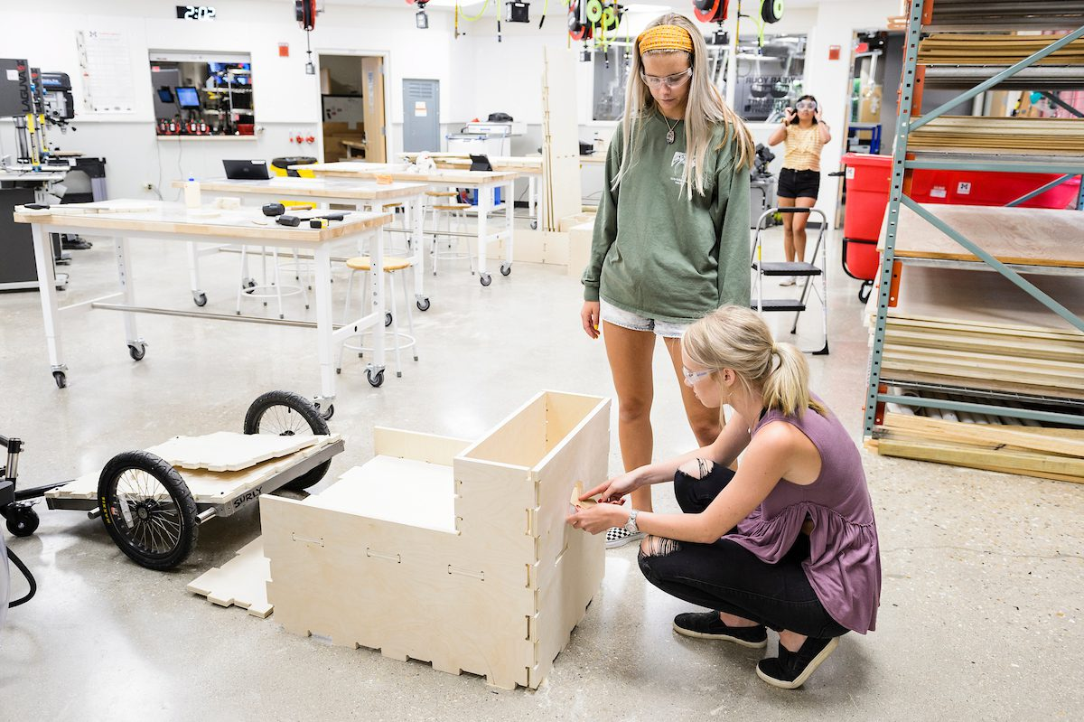 Makerspace students