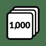 Icon representing 1,000