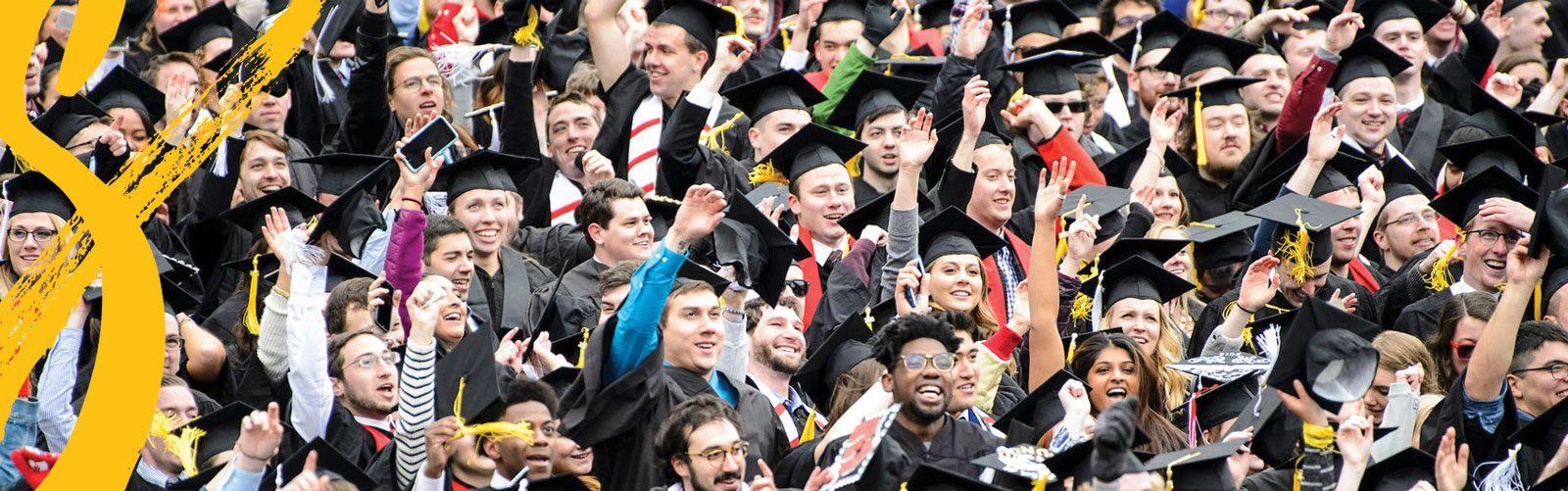 Happy students at graduation.