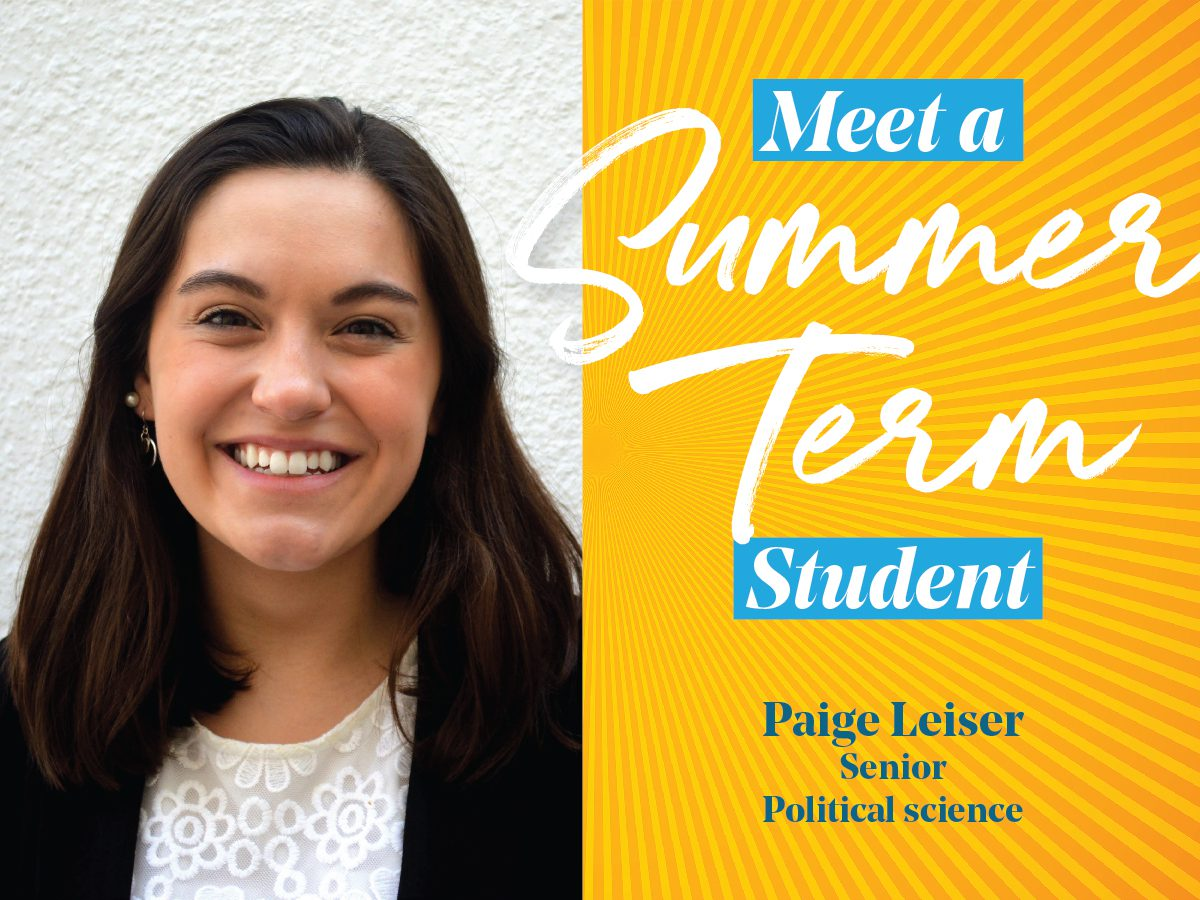headshot of Paige Lesier in summer term template